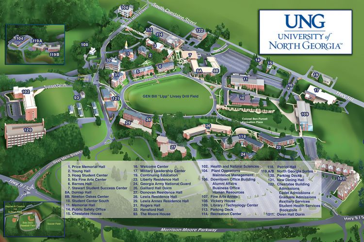 Map North East University Of North Georgia Map